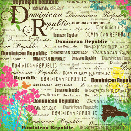Scrapbook Customs - World Collection - Dominican Republic - 12 x 12 Paper - Paradise