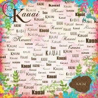 Scrapbook Customs - World Collection - USA - 12 x 12 Paper - Kauai - Paradise