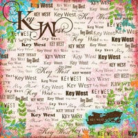Scrapbook Customs - World Collection - USA - 12 x 12 Paper - Key West - Paradise