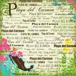 Scrapbook Customs - World Collection - Mexico - 12 x 12 Paper - Playa del Carmen - Paradise