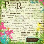 Scrapbook Customs - World Collection - Puerto Rico - 12 x 12 Paper - Paradise