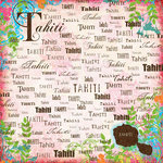 Scrapbook Customs - World Collection - Tahiti - 12 x 12 Paper - Paradise