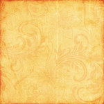 Scrapbook Customs - Travel Collection - 12 x 12 Paper - Paradise - Orange Flourish