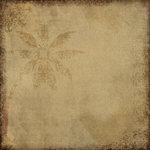 Scrapbook Customs - Travel Collection - 12 x 12 Paper - Paradise - Palm