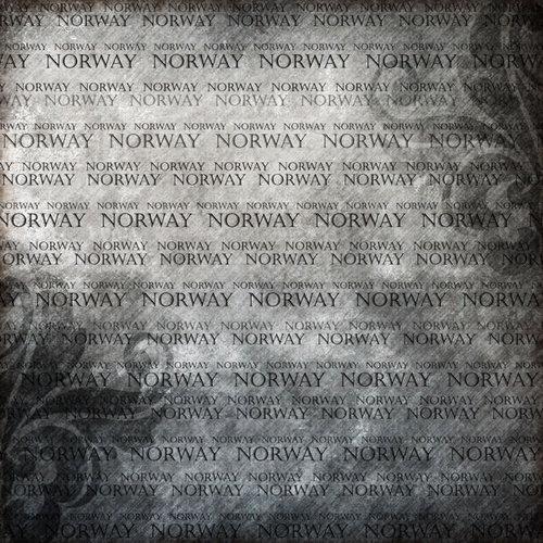 Scrapbook Customs - World Collection - Norway - 12 x 12 Paper - Explore