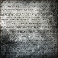 Scrapbook Customs - World Collection - Scotland - 12 x 12 Paper - Explore