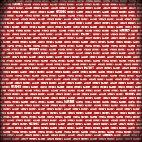Scrapbook Customs - Military Collection - 12 x 12 Paper - Marines Pride - Scarlet Red