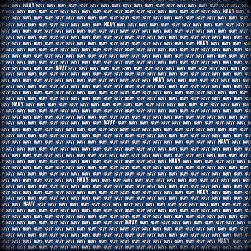 Scrapbook Customs - Military Collection - 12 x 12 Paper - Navy Pride - Blue