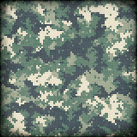 Scrapbook Customs - Military Collection - 12 x 12 Paper - Camouflage - Green