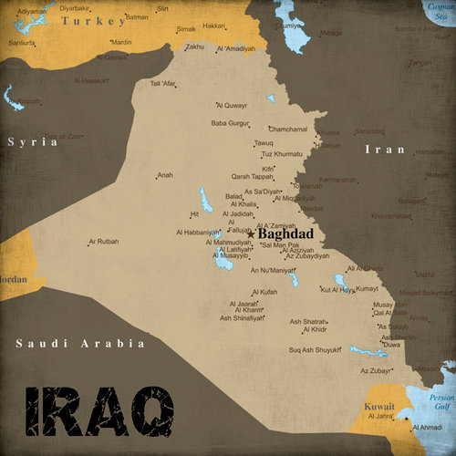 Scrapbook Customs - World Collection - Iraq - 12 x 12 Paper - World Events