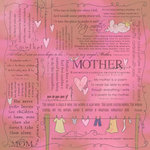 Scrapbook Customs - Religious Collection - 12 x 12 Paper - Quotes - Mother