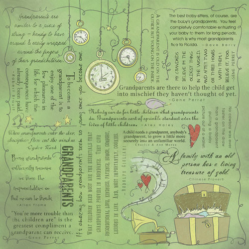 Scrapbook Customs - Religious Collection - 12 x 12 Paper - Quotes - Grandparents