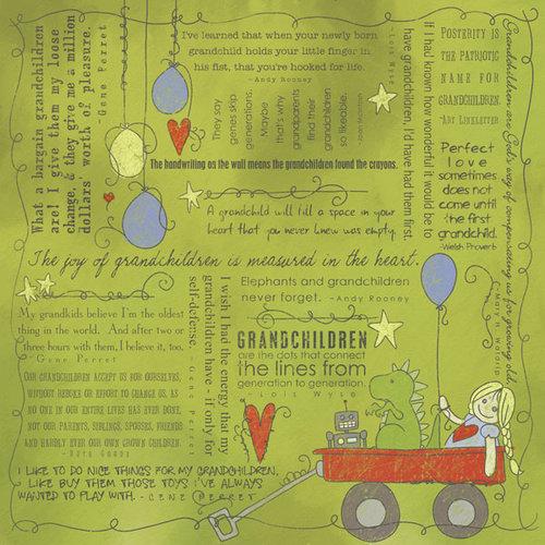Scrapbook Customs - Religious Collection - 12 x 12 Paper - Quotes - Grandchildren