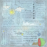 Scrapbook Customs - Religious Collection - 12 x 12 Paper - Quotes - Family Reunion