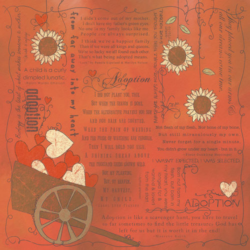 Scrapbook Customs - Religious Collection - 12 x 12 Paper - Quotes - Adoption