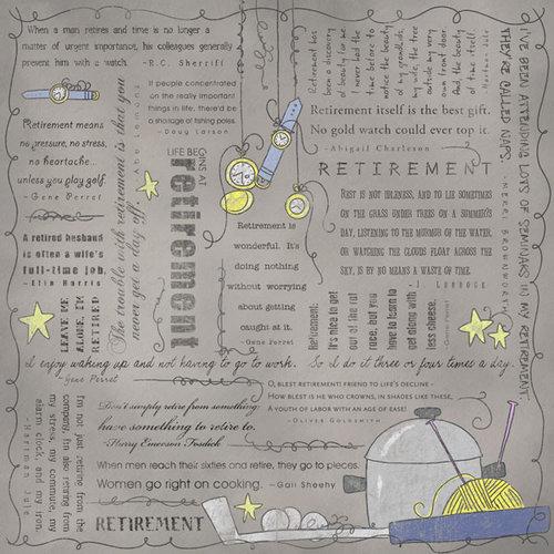 Scrapbook Customs - Religious Collection - 12 x 12 Paper - Quotes - Retirement