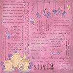 Scrapbook Customs - Religious Collection - 12 x 12 Paper - Quotes - Sister