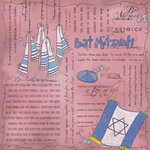 Scrapbook Customs - Religious Collection - 12 x 12 Paper - Quotes - Bat Mitzvah