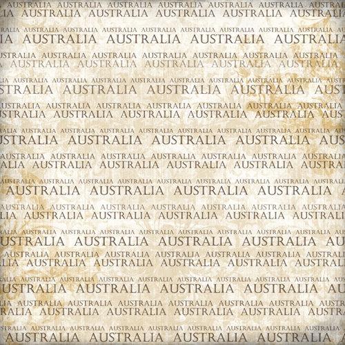 Scrapbook Customs - World Collection - Australia - 12 x 12 Paper - Explore Cream