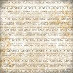 Scrapbook Customs - World Collection - Austria - 12 x 12 Paper - Explore Cream