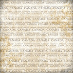 Scrapbook Customs - World Collection - Canada - 12 x 12 Paper - Explore Cream