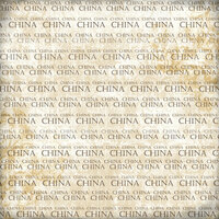 Scrapbook Customs - World Collection - China - 12 x 12 Paper - Explore Cream