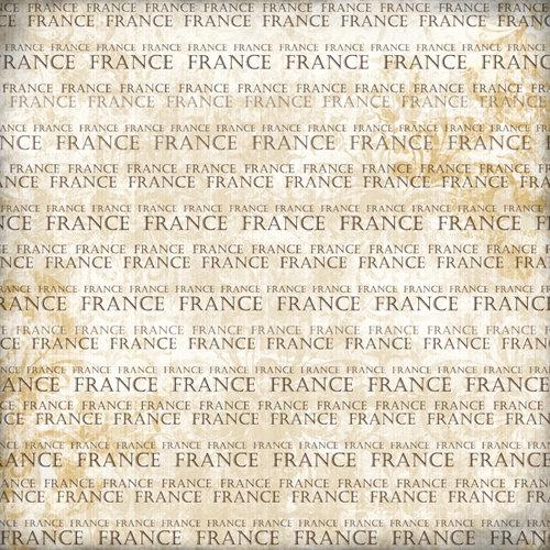 Scrapbook Customs - World Collection - France - 12 x 12 Paper - Explore Cream