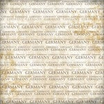 Scrapbook Customs - World Collection - Germany - 12 x 12 Paper - Explore Cream