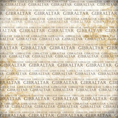 Scrapbook Customs - World Collection - Gibraltar - 12 x 12 Paper - Explore Cream