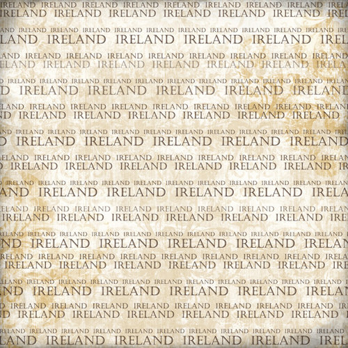 Scrapbook Customs - World Collection - Ireland - 12 x 12 Paper - Explore Cream