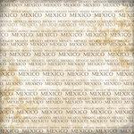 Scrapbook Customs - World Collection - Mexico - 12 x 12 Paper - Explore Cream