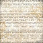 Scrapbook Customs - World Collection - Morocco - 12 x 12 Paper - Explore Cream