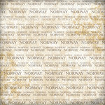 Scrapbook Customs - World Collection - Norway - 12 x 12 Paper - Explore Cream