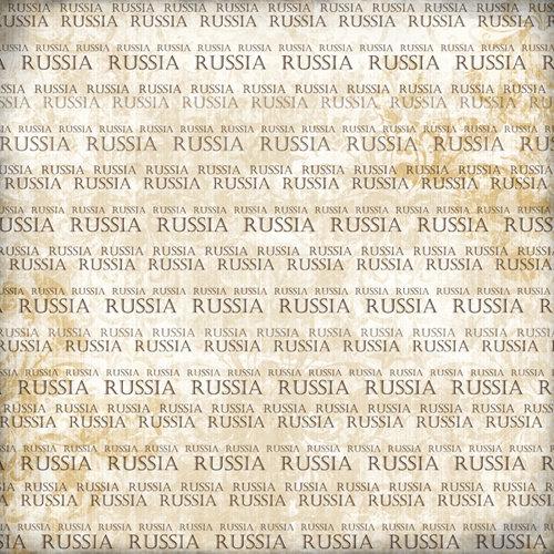 Scrapbook Customs - World Collection - Russia - 12 x 12 Paper - Explore Cream