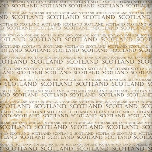 Scrapbook Customs - World Collection - Scotland - 12 x 12 Paper - Explore Cream