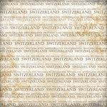 Scrapbook Customs - World Collection - Switzerland - 12 x 12 Paper - Explore Cream