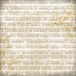Scrapbook Customs - World Collection - USA - 12 x 12 Paper - Explore Cream