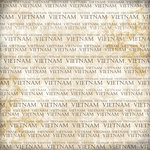 Scrapbook Customs - World Collection - Vietnam - 12 x 12 Paper - Explore Cream