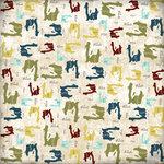 Scrapbook Customs - World Collection - Haiti - 12 x 12 Paper - Explore Country Shape