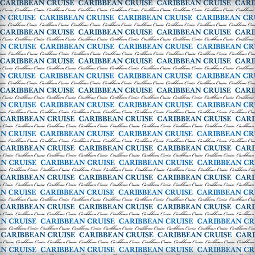 Scrapbook Customs - World Collection - 12 x 12 Paper - Caribbean Cruise Pride