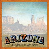 Scrapbook Customs - Vintage Label Collection - 12 x 12 Paper - Arizona Vintage