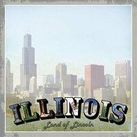 Scrapbook Customs - Vintage Label Collection - 12 x 12 Paper - Illinois Vintage