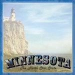 Scrapbook Customs - Vintage Label Collection - 12 x 12 Paper - Minnesota Vintage