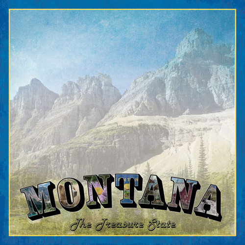 Scrapbook Customs - Vintage Label Collection - 12 x 12 Paper - Montana Vintage