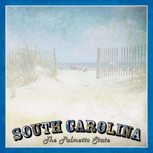 Scrapbook Customs - Vintage Label Collection - 12 x 12 Paper - South Carolina Vintage
