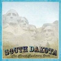 Scrapbook Customs - Vintage Label Collection - 12 x 12 Paper - South Dakota Vintage