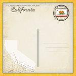 Scrapbook Customs - Vintage Label Collection - 12 x 12 Paper - California Vintage Companion