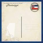 Scrapbook Customs - Vintage Label Collection - 12 x 12 Paper - Mississippi Vintage Companion