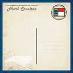 Scrapbook Customs - Vintage Label Collection - 12 x 12 Paper - North Carolina Vintage Companion