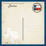 Scrapbook Customs - Vintage Label Collection - 12 x 12 Paper - Texas Vintage Companion